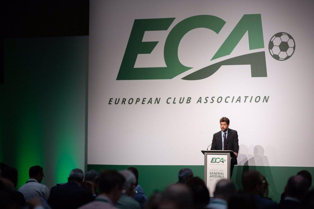 Andrea Agnelli discurso abertura Assembleia Geral European Club Association