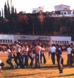 Festa do golo na subida de divisão 1977